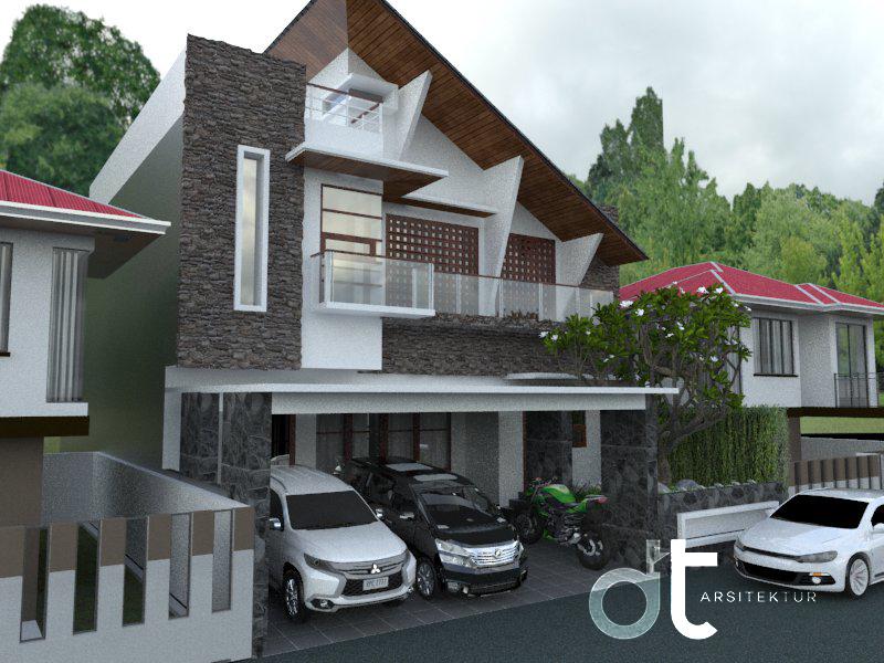 Desain Arsitektur Bangunan Tempat Tinggal Ciputat