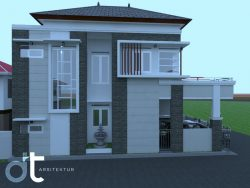 Gambar Desain Arsitektur Bangunan Rumah Serpong
